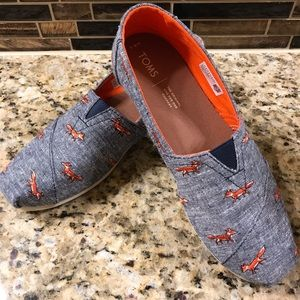 Toms chambray embroidered fox